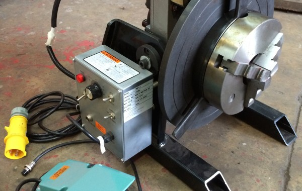 150kg Welding Positioner with a Quick Release 3 Jaw Chuck