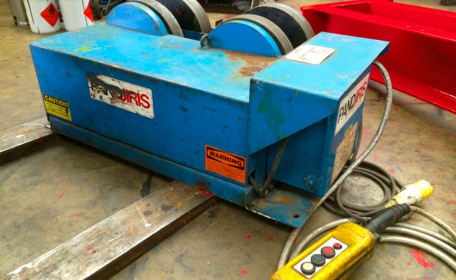 6. Pandjiris 5 Tonne Steel Wheel Pipe Rotators