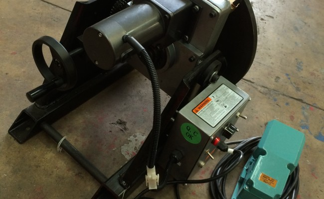 7. 150kg Welding Positioner with quick release chuck