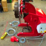 16. 750kg Welding Positioner with 3 Jaw Chuck