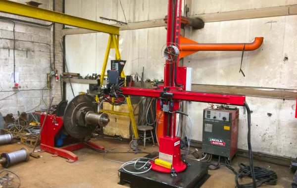 1.8 m x 1.8 m Column and Boom Welding Manipulator with Lincoln Electric LT-7 Controller (Including Reconditioning Build Process Slideshow)