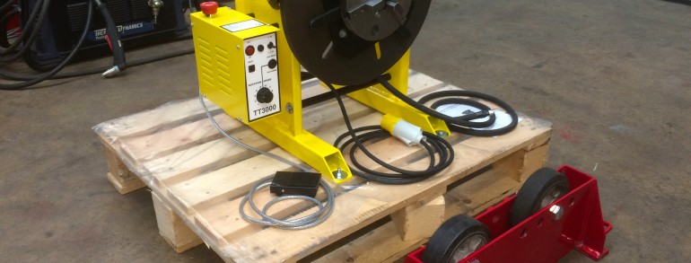 300 kg Welding Positioner fitted with a 3 Jaw Quick Release Chuck
