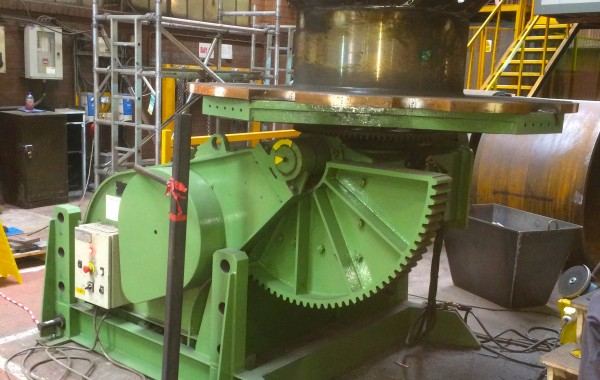 BODE 7.5 Tonne Welding Positioner with Adjustable Raising Base Frame