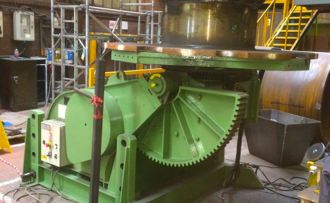 1. BODE 7.5 Tonne Welding Positioner with Adjustable Raising Frame