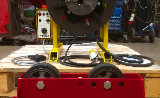 10. 300kg Welding Positioner with Chuck