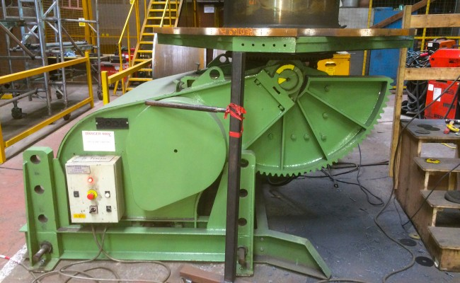 11. BODE 7.5 Tonne Welding Positioner with Adjustable Raising Frame