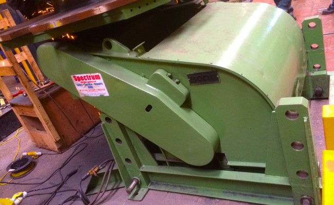 3. BODE 7.5 Tonne Welding Positioner with Adjustable Raising Frame