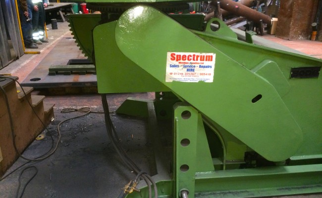 9. BODE 7.5 Tonne Welding Positioner with Adjustable Raising Frame