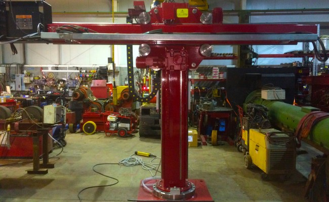 15. 2m x 2m Brand New Column and Boom Welding Manipulator with Lincoln Electric NA-5 Controller and Head