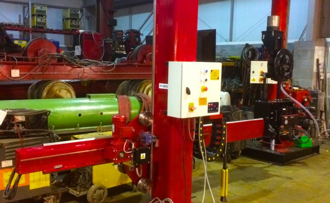 3. 2m x 2m Brand New Column and Boom Welding Manipulator with Lincoln Electric NA-5 Controller and Head