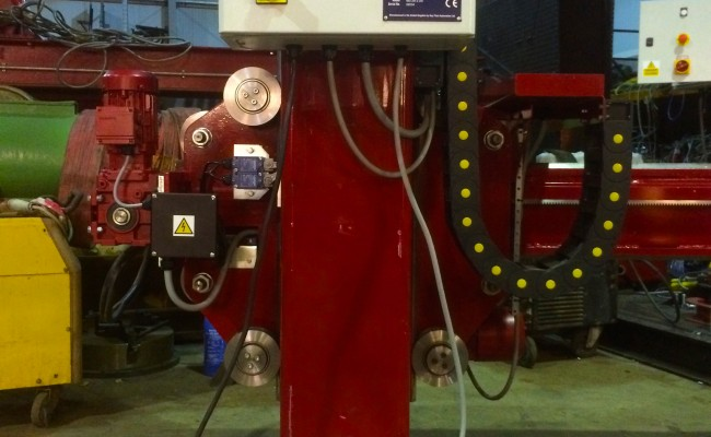 5. 2m x 2m Brand New Column and Boom Welding Manipulator with Lincoln Electric NA-5 Controller and Head