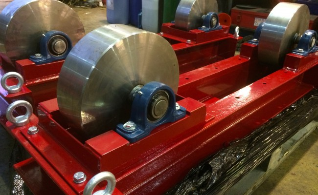 9. 5 Tonne Conventional Steel Wheeled Welding Rotators