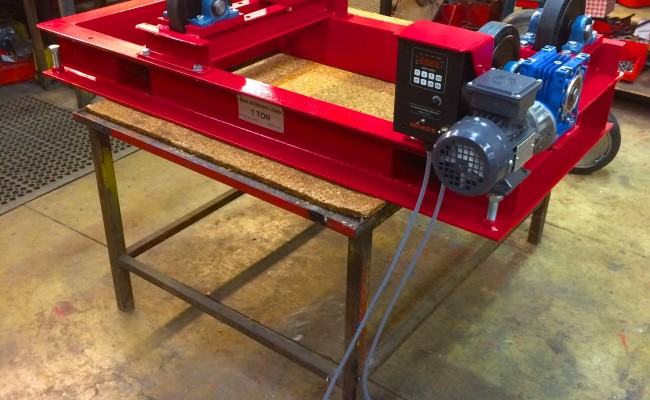 1. 1 Tonne Pipe Rotators with Bespoke Adjustable Frame