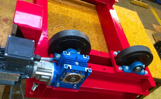 11. 1 Tonne Pipe Rotators with Bespoke Adjustable Frame
