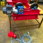 12. 1 Tonne Pipe Rotators with Bespoke Adjustable Frame