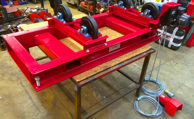 2. 1 Tonne Pipe Rotators with Bespoke Adjustable Frame