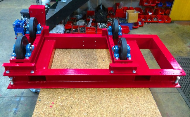 3. 1 Tonne Pipe Rotators with Bespoke Adjustable Frame