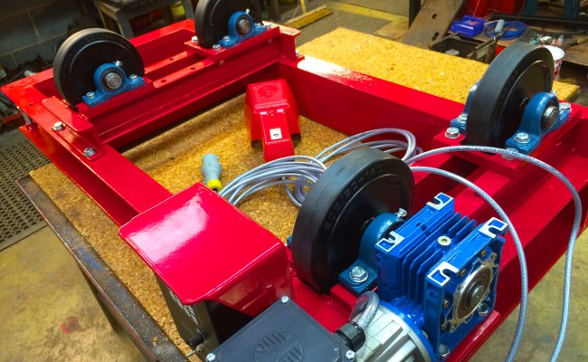 4. 1 Tonne Pipe Rotators with Bespoke Adjustable Frame