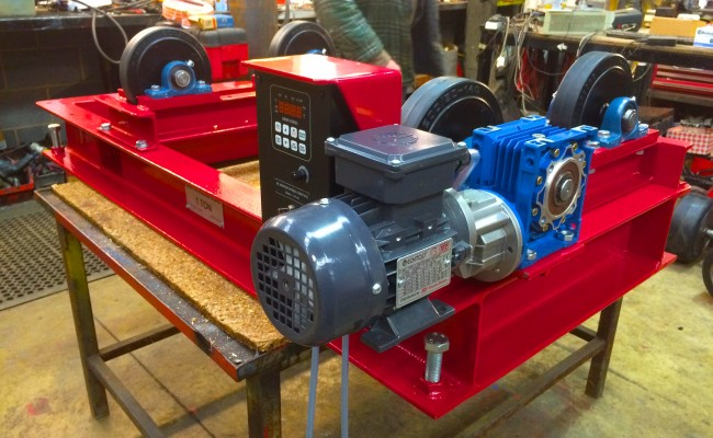 7. 1 Tonne Pipe Rotators with Bespoke Adjustable Frame