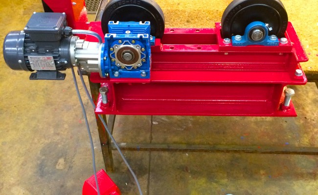 8. 1 Tonne Pipe Rotators with Bespoke Adjustable Frame