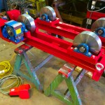 1. 2.5 tonne steel wheel pipe rollers manufactured in house