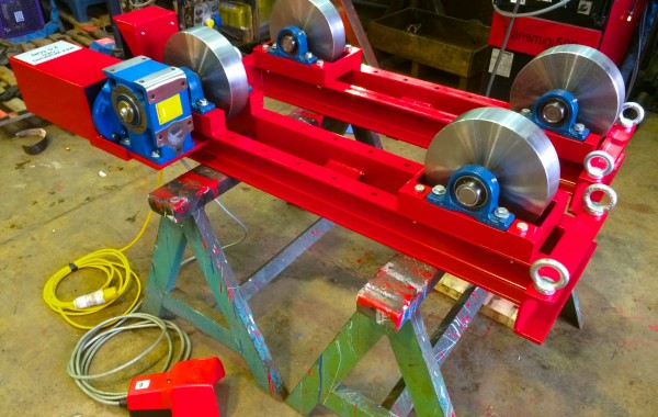 2.5 Tonne Steel Wheel Pipe Rotators and Manufactured In-House