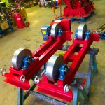 5. 2.5 tonne steel wheel pipe rollers manufactured in house
