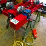 6. 2.5 tonne steel wheel pipe rollers manufactured in house