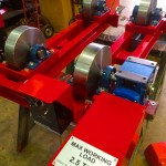 8. 2.5 tonne steel wheel pipe rollers manufactured in house