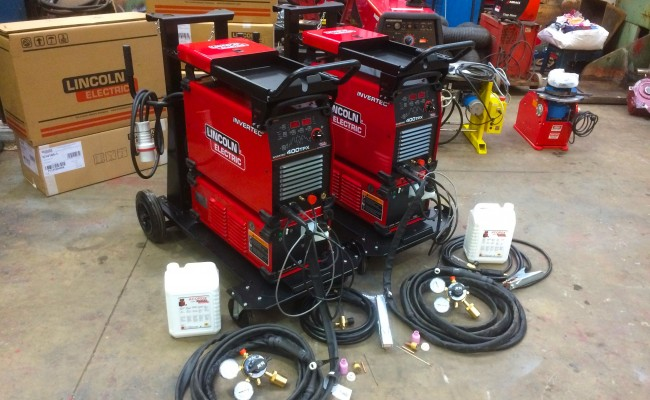 10. Lincoln Electric Invertec 400TPX & Cool Arc 46 Water Cooled TIG Welding Machine