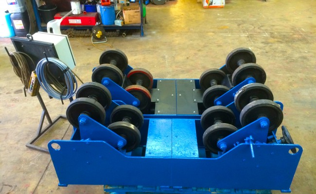 7. MPE 5 Tonne SAR Self Aligning Welding Rotators