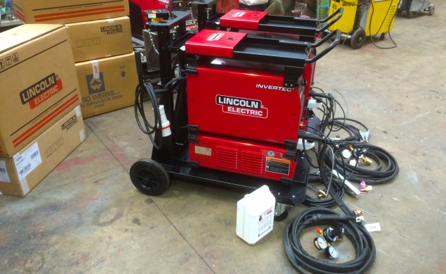 8. Lincoln Electric Invertec 400TPX & Cool Arc 46 Water Cooled TIG Welding Machine