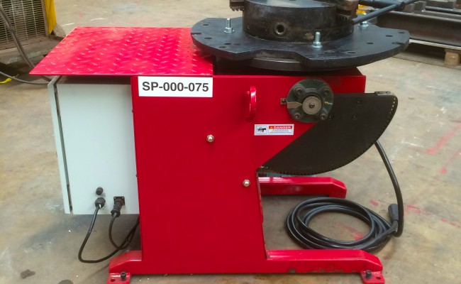 3. 250kg Welding Positioner 110V with Heavy Duty Chuck