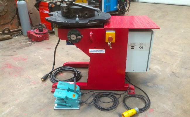 6. 250kg Welding Positioner 110V with Heavy Duty Chuck