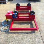 1. 2.5 Tonne Special Welding Rotators on Bespoke Fork Lift Truck Frame