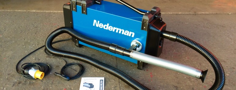 Nederman Eliminator 841 Automatic Start/Stop Fume Extractor, 110V