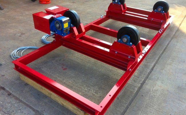 10. 2.5 Tonne Special Welding Rotators on Bespoke Fork Lift Truck Frame