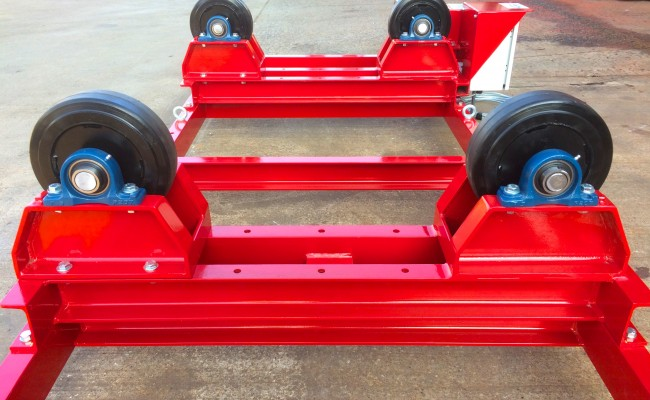 12. 2.5 Tonne Special Welding Rotators on Bespoke Fork Lift Truck Frame