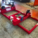 16. 2.5 Tonne Special Welding Rotators on Bespoke Fork Lift Truck Frame