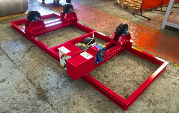 2.5 Tonne Bespoke Welding Rotators with Bespoke Adjustable Frame and In-House Manufactured