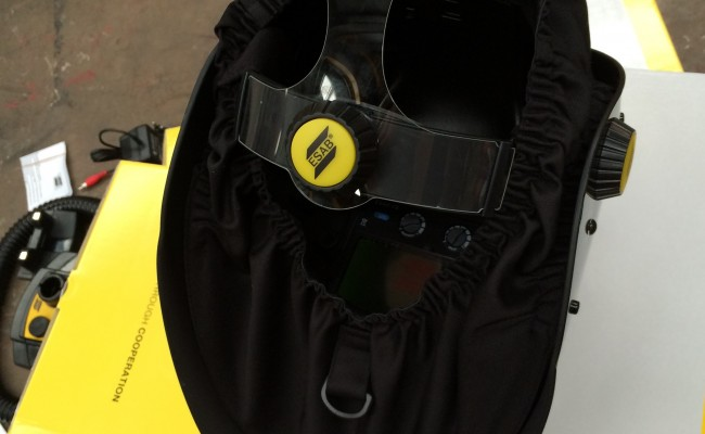 2. ESAB Warrior Tech Air Fed Welding Helmet