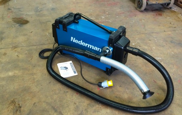 Nederman Eliminator 840 Portable Fume Extractor with Magnetic Nozzle Clamp, 110V
