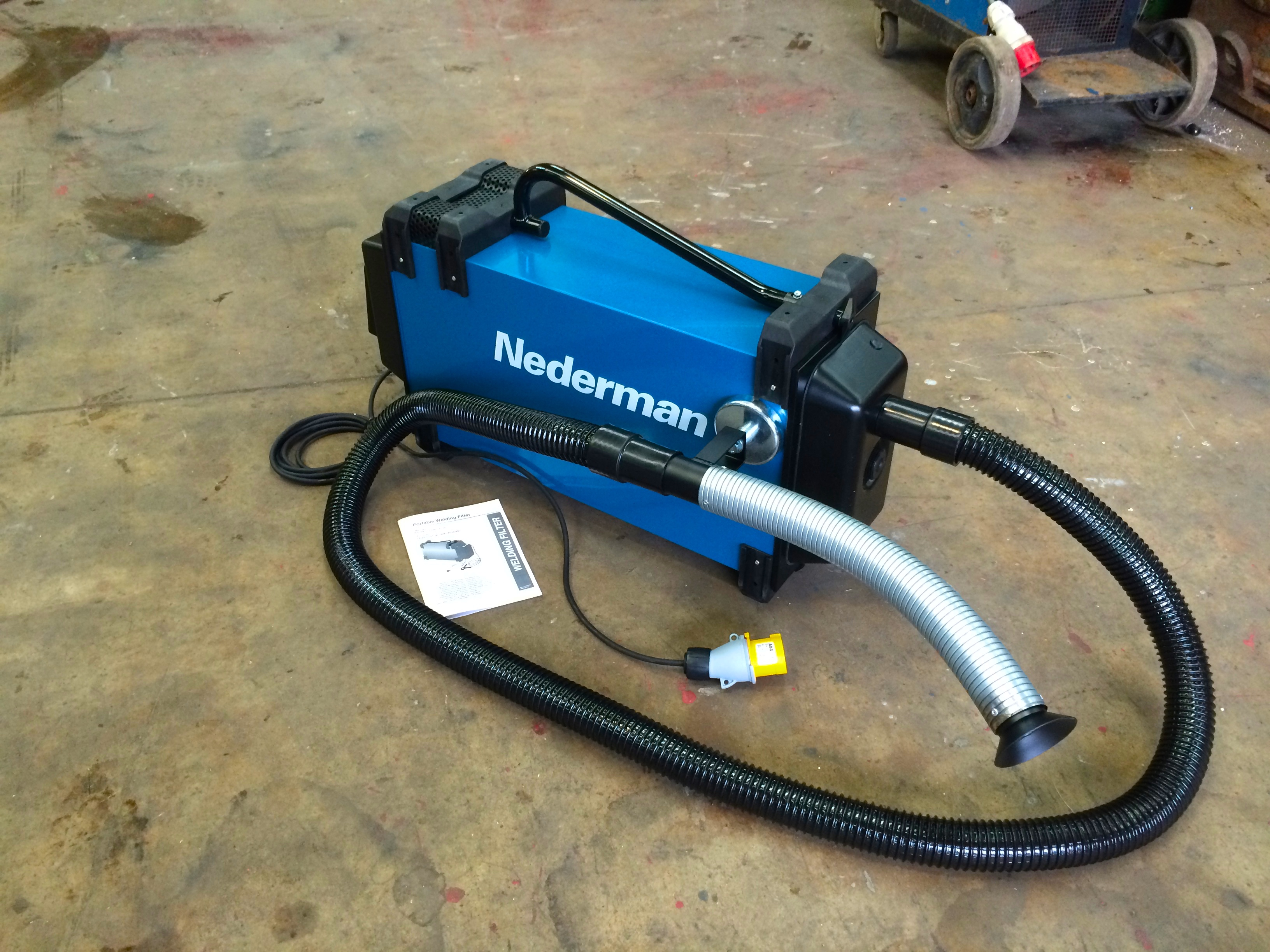 nederman eliminator 840 portable fume extractor with magnetic nozzle clamp 110v - Welding Fume Extractor