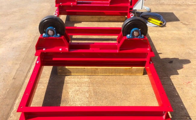 3. 2.5 Tonne Special Welding Rotators on Bespoke Fork Lift Truck Frame