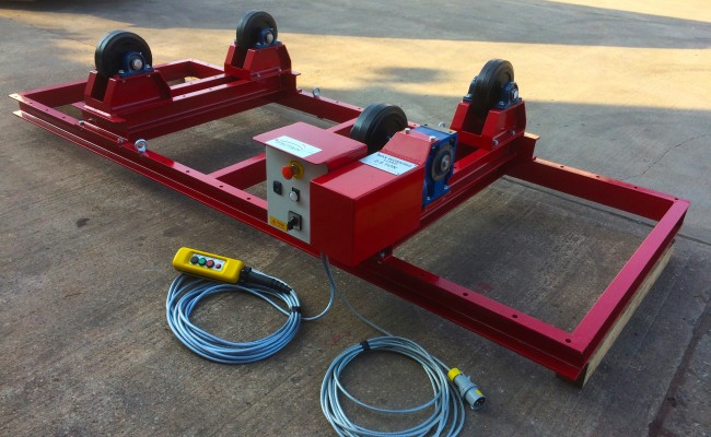 4. 2.5 Tonne Special Welding Rotators on Bespoke Fork Lift Truck Frame