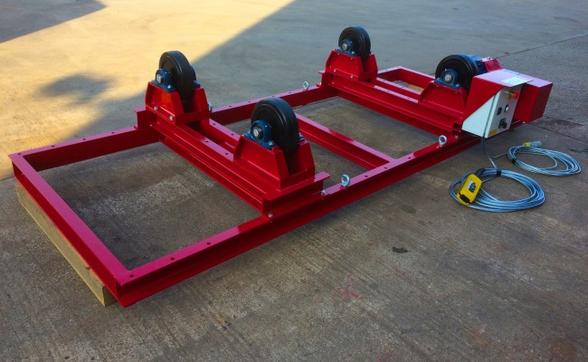 5. 2.5 Tonne Special Welding Rotators on Bespoke Fork Lift Truck Frame