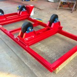 7. 2.5 Tonne Special Welding Rotators on Bespoke Fork Lift Truck Frame