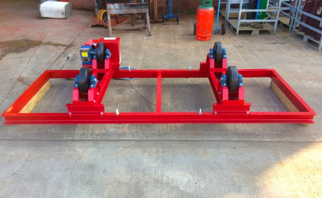 8. 2.5 Tonne Special Welding Rotators on Bespoke Fork Lift Truck Frame