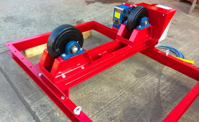 9. 2.5 Tonne Special Welding Rotators on Bespoke Fork Lift Truck Frame