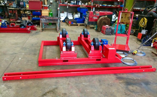 1. 5 Tonne Welding Rotators with Adjustable Fork Lift Truck Frame Aligning System